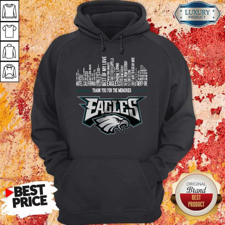 Top Thank You For The Memories Philadelphia Eagles Hoodie