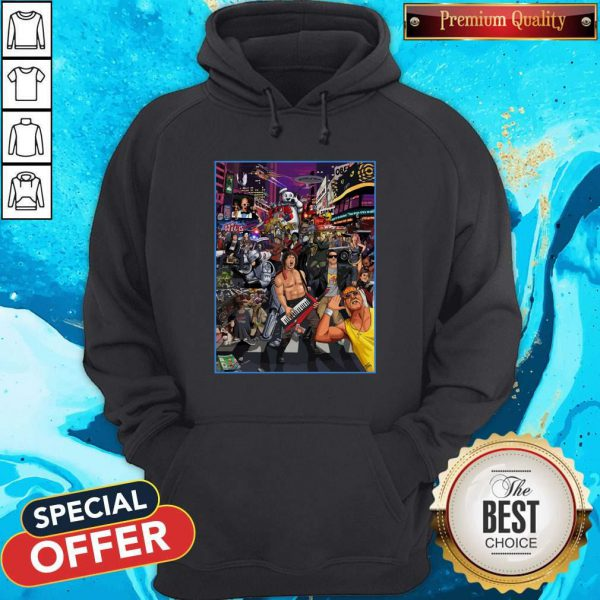 Top Tribute To 80s Pop Culture Hoodie