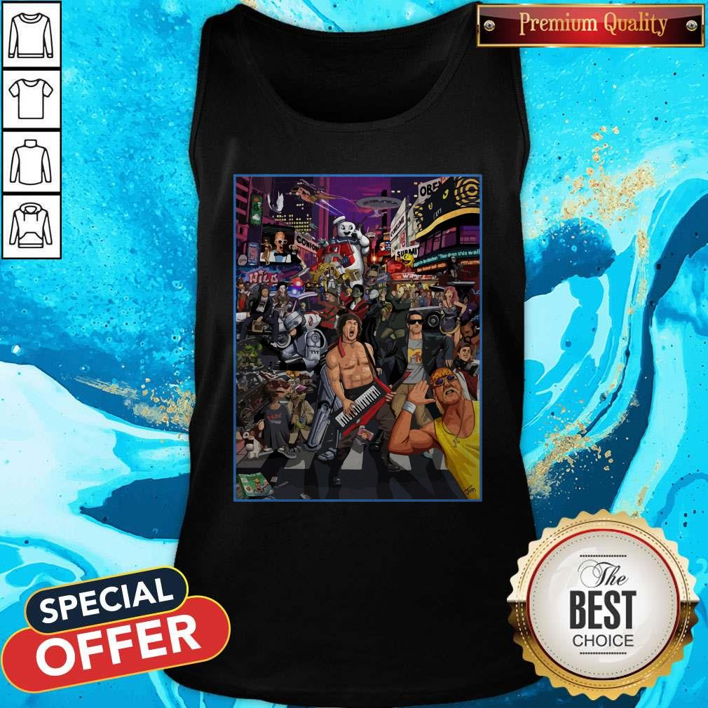 Top Tribute To 80s Pop Culture Tank Top