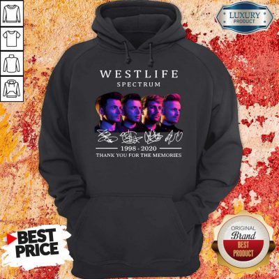 Westlife Spectrum 1998 2020 Thank You For The Memories Signature Hoodie