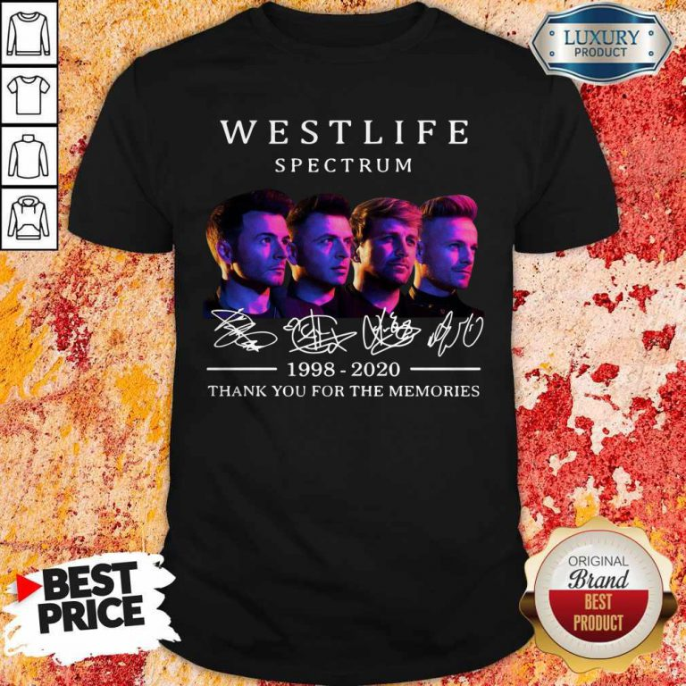 Westlife Spectrum 1998 2020 Thank You For The Memories Signature Shirt