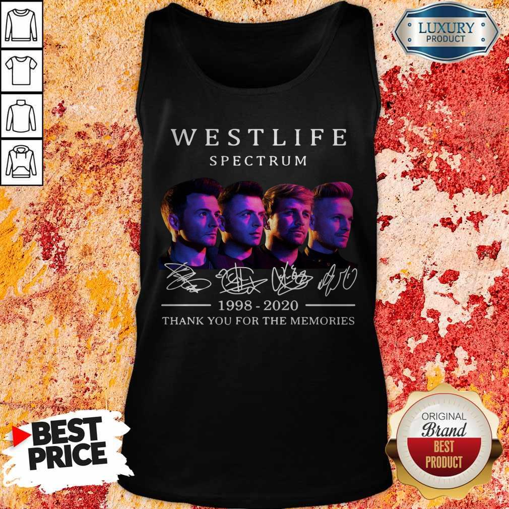 Westlife Spectrum 1998 2020 Thank You For The Memories Signature Tank Top
