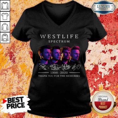 Westlife Spectrum 1998 2020 Thank You For The Memories Signature V-neck