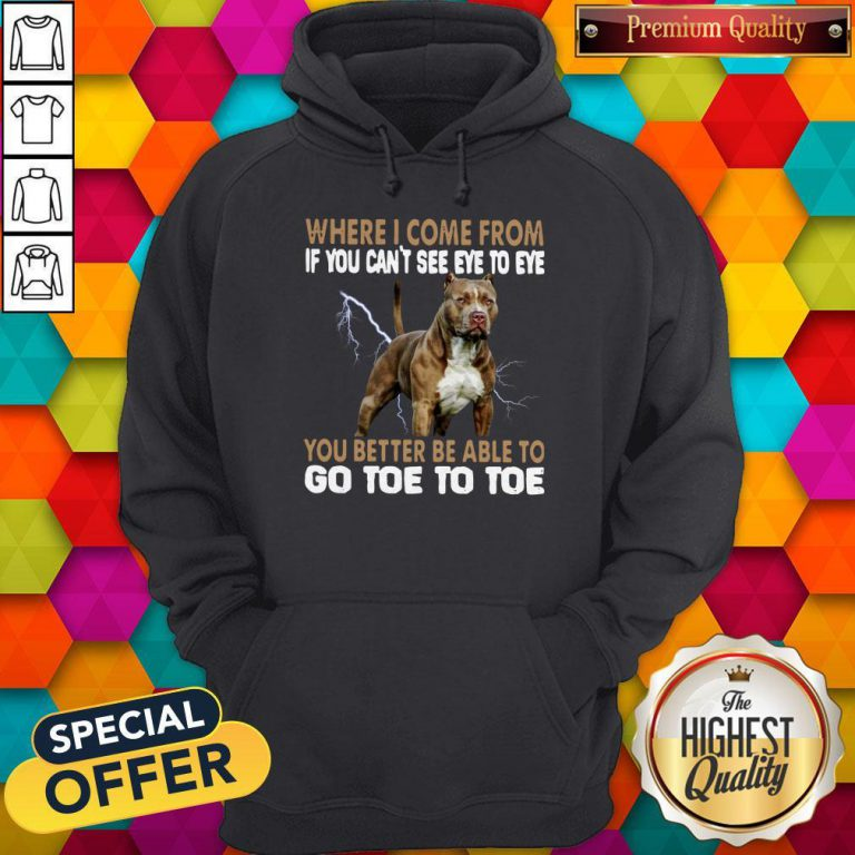 Where I Come From If You Can't See Eye To Eye You Better Be Able To Go Toe To Toe Hoodie