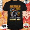 Animals Don't Have A Voice So Youll Never Stop Hearing Mine Dinosaur Vintage Retro Shirt