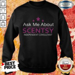 Ask Me About Scentsy Independent Consultant Stars Sweatshirt