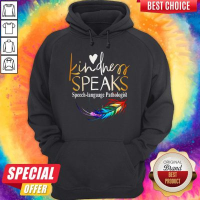 Awesome Kindness Speaks Feathers LGBT Hoodie