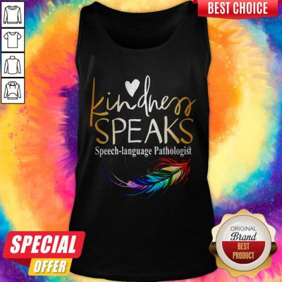 Awesome Kindness Speaks Feathers LGBT Tank Top
