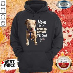 Awesome Mom Off A Spoiled Rotten Pit Bull Hoodie
