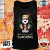 Cute Snoopy Hippie You're My Sunshine Tank Top