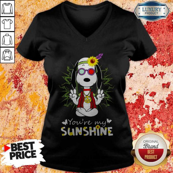 Cute Snoopy Hippie You're My Sunshine V-neck