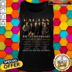 Eagles 50th Anniversary 1971 2021 Thank You For The Memories Signatures Tank Top