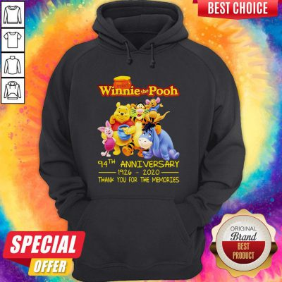 Hunny Winnie The Pooh 94Th Anniversary 1926 2020 Thank You For The Memories Hoodie