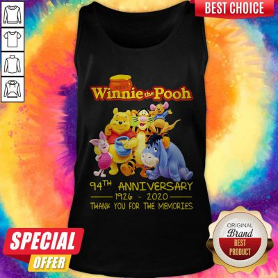 Hunny Winnie The Pooh 94Th Anniversary 1926 2020 Thank You For The Memories Tank Top