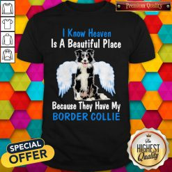 I Know Heaven Is A Beautiful Place Because They Have My Border Collie Angel Shirt