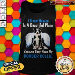 I Know Heaven Is A Beautiful Place Because They Have My Border Collie Angel Tank Top