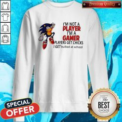 I'm Not A Player I'm A Gamer Players Get Chicks I Get Bullied At School Sweatshirt