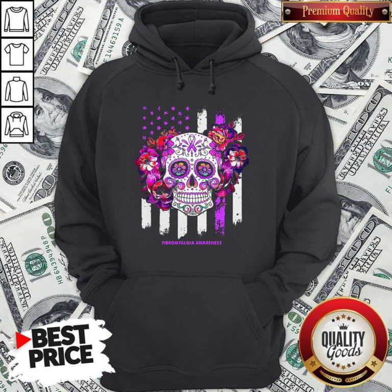 Independence Day Festival Of Death Skull Fibromyalgia Awareness Hoodie