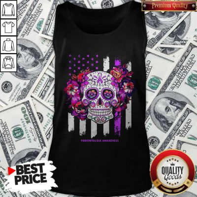 Independence Day Festival Of Death Skull Fibromyalgia Awareness Tank Top