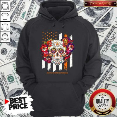 Independence Day Festival Of Death Skull Multiple Sclerosis Awareness Hoodie