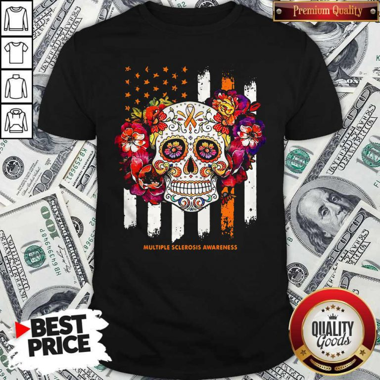Independence Day Festival Of Death Skull Multiple Sclerosis Awareness Shirt