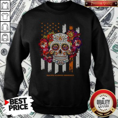 Independence Day Festival Of Death Skull Multiple Sclerosis Awareness Sweatshirt
