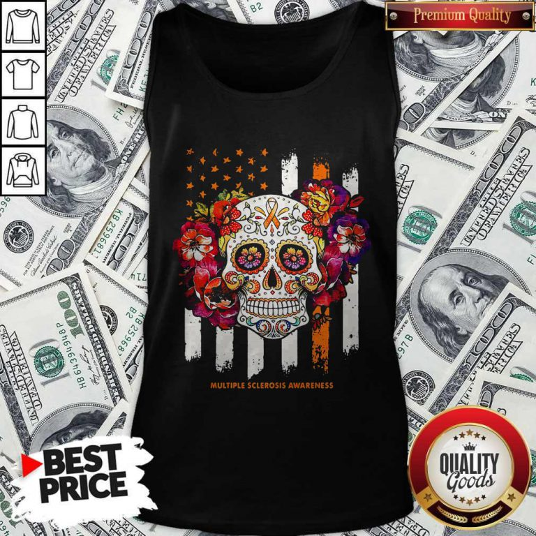 Independence Day Festival Of Death Skull Multiple Sclerosis Awareness Tank Top
