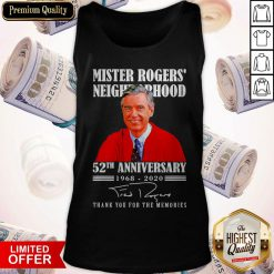 Mister Rogers Neighborhood 52th Anniversary 1968 2020 Thank You For The Memories Signature Tank Top