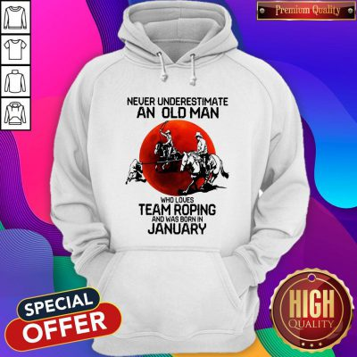Never Underestimate Who Loves Team Roping And Was Born In July Sunset Hoodie