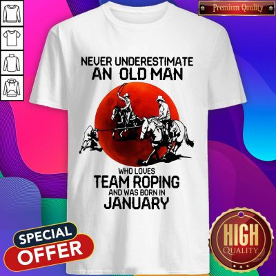 Never Underestimate Who Loves Team Roping And Was Born In July Sunset Shirt