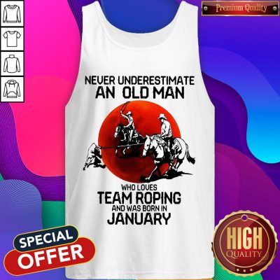 Never Underestimate Who Loves Team Roping And Was Born In July Sunset Tank Top