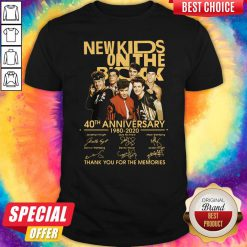 New Kids On The Rock 40Th Anniversary 19780 2020 Thank You For The Memories Signatures Shirt
