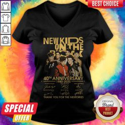New Kids On The Rock 40Th Anniversary 19780 2020 Thank You For The Memories Signatures V-neck