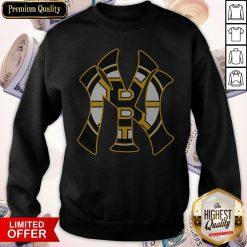 Nice New York Yankees And Boston Bruins Sweatshirt