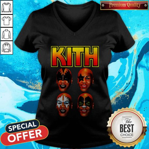 Official Kith Kiss Rock Mike Tyson V-neck