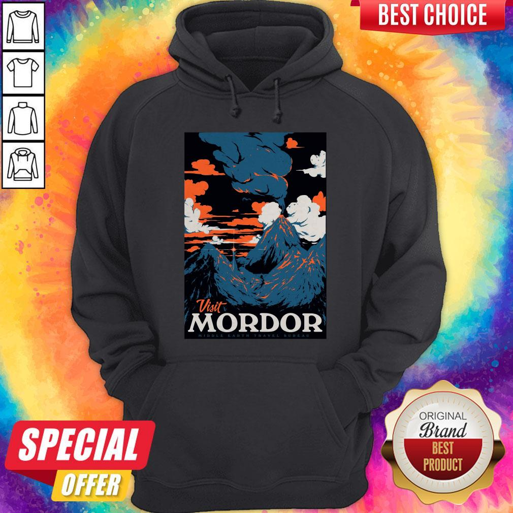 Official Visit Mordor Middle Earth Arch Villain Sauron Tee Hoodie