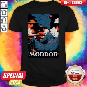 Official Visit Mordor Middle Earth Arch Villain Sauron Tee Shirt