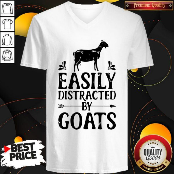 Premium Easily Distracted By Goats V-neck