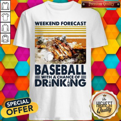 Weekend Forecast Baseball With A Chance Of Drinking Shirt