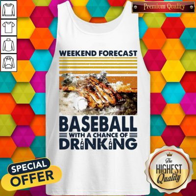 Weekend Forecast Baseball With A Chance Of Drinking Tank Top