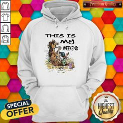 funny this is my weekend horse bath hoodie