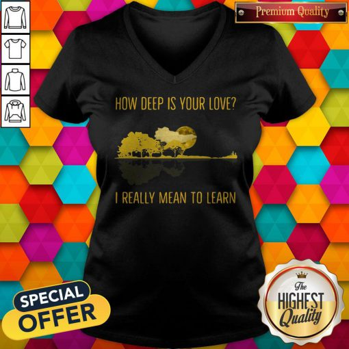 how deep is your love i really mean to learn guitar v neck