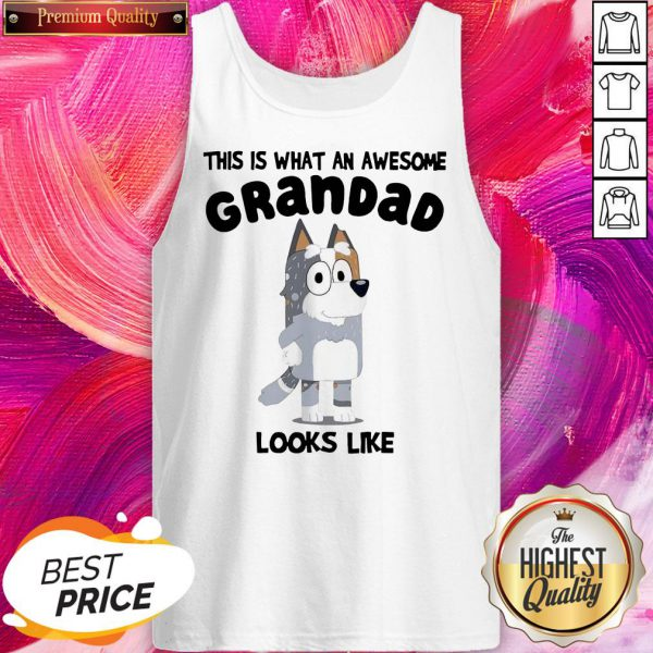 Official This Is What An Awesome Grandpa Bandit Heeler Looks Like Tank Top