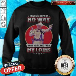 theres no way that you came from my loins sweatshirt