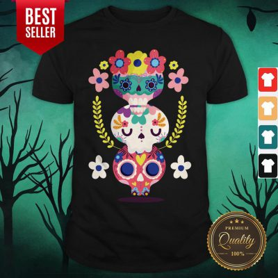 Triple Sugar Skull Colorful Day Of The Dead Shirt