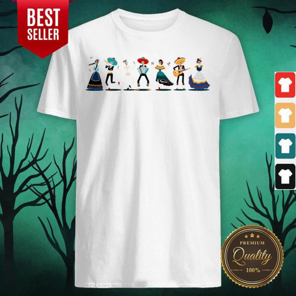 Day Of The Dead Skeleton Party Shirt