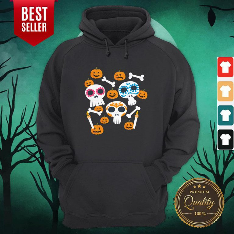 Funny Mexican Skulls Pumpkins With Face Hoodie