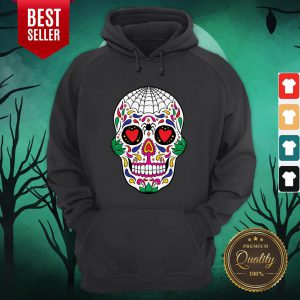 Colorful Mexican Sugar Skull Day Of The Dead Hoodie