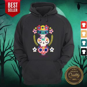 Triple Sugar Skull Colorful Day Of The Dead Hoodie