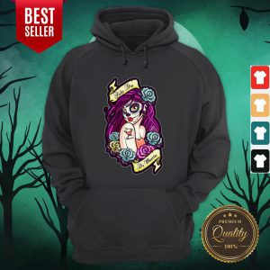 Feliz Dia De Muertos Pin-up Girl Hoodie